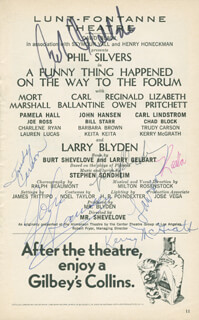 A FUNNY THING HAPPENED ON THE WAY TO THE FORUM PLAY CAST - SHOW BILL SIGNED CO-SIGNED BY: JOHN HANSEN, TRUDY CARSON, KERRY MCGRATH, LAUREN LUCAS, KEITA KEITA