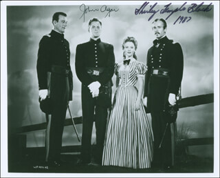 FORT APACHE MOVIE CAST - AUTOGRAPHED SIGNED PHOTOGRAPH 1987 CO-SIGNED BY: SHIRLEY TEMPLE, JOHN AGAR