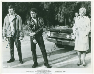 FIREBALL 500 MOVIE CAST - AUTOGRAPHED SIGNED PHOTOGRAPH CO-SIGNED BY: FABIAN, FRANKIE AVALON