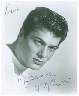 TONY CURTIS - AUTOGRAPHED INSCRIBED PHOTOGRAPH
