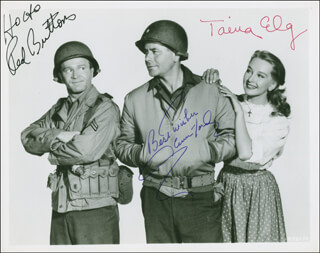 IMITATION GENERAL MOVIE CAST - AUTOGRAPHED SIGNED PHOTOGRAPH CO-SIGNED BY: GLENN FORD, RED BUTTONS, TAINA ELG
