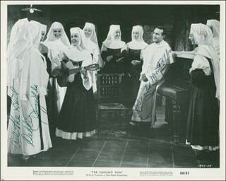 THE SINGING NUN MOVIE CAST - AUTOGRAPHED SIGNED PHOTOGRAPH CO-SIGNED BY: DEBBIE REYNOLDS, RICARDO MONTALBAN