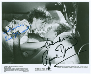 MIDDLE AGE CRAZY MOVIE CAST - AUTOGRAPHED SIGNED PHOTOGRAPH CO-SIGNED BY: ANN-MARGRET, BRUCE DERN