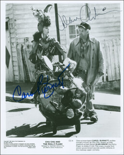 CHU CHU & THE PHILLY FLASH MOVIE CAST - AUTOGRAPHED SIGNED PHOTOGRAPH CO-SIGNED BY: ALAN ARKIN, CAROL BURNETT