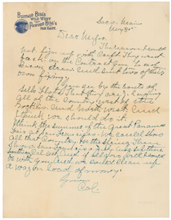 WILLIAM F. BUFFALO BILL CODY - AUTOGRAPH LETTER SIGNED 05/30