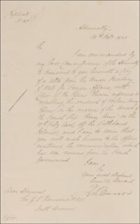 Autographs: SIR JOHN BARROW - MANUSCRIPT LETTER SIGNED 10/14/1835