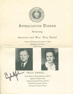 Autographs: PRESIDENT LYNDON B. JOHNSON - PROGRAM SIGNED