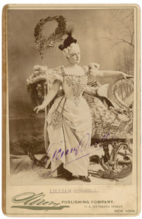 LILLIAN RUSSELL - AUTOGRAPHED SIGNED PHOTOGRAPH
