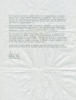 Autographs: CAPTAIN ALAN L. BEAN - TYPED LETTER SIGNED