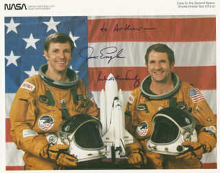SPACE SHUTTLE COLUMBIA - STS - 2 CREW - AUTOGRAPHED INSCRIBED PHOTOGRAPH CO-SIGNED BY: MAJOR GENERAL JOE ENGLE, VICE ADMIRAL RICHARD H. TRULY