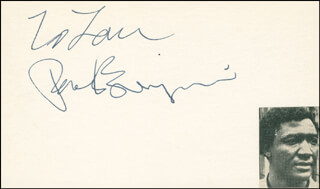 PAUL BENJAMIN - INSCRIBED SIGNATURE