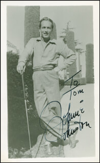 JOHNNIE JOHNSTON - AUTOGRAPHED INSCRIBED PHOTOGRAPH