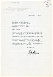 CHARLES F. LUCE - TYPED LETTER SIGNED 12/07/1972