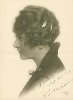 CLEO MADISON - AUTOGRAPHED INSCRIBED PHOTOGRAPH 11/14/1914