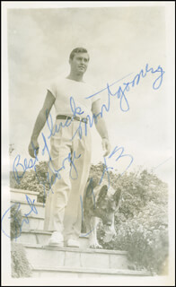 GEORGE MONTGOMERY - AUTOGRAPHED SIGNED PHOTOGRAPH 1943