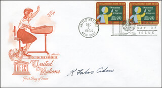 Autographs: GENERAL RONALD FORBES ADAM - FIRST DAY COVER SIGNED