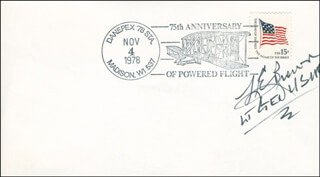Autographs: LT. GENERAL LESLIE E. BROWN - COMMEMORATIVE ENVELOPE SIGNED