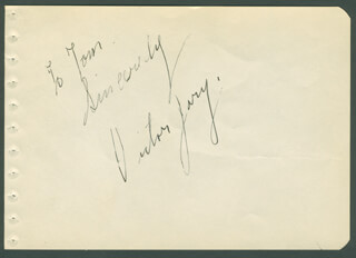 VICTOR JORY - AUTOGRAPH NOTE SIGNED