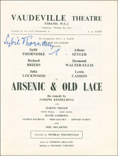 Autographs: DAME SYBIL THORNDIKE - SHOW BILL SIGNED