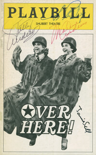 OVER HERE! PLAY CAST - SHOW BILL SIGNED CO-SIGNED BY: PATTY ANDREWS, MAXENE ANDREWS, ANN REINKING, JANIE SELL