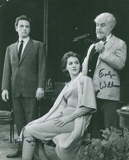 DAUGHTER OF SILENCE BROADWAY CAST - AUTOGRAPHED SIGNED PHOTOGRAPH CO-SIGNED BY: EMLYN WILLIAMS, RIP TORN