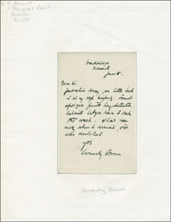 JOHN ARNESBY BROWN - AUTOGRAPH LETTER SIGNED 06/05/1910