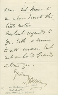 DR. JOHN BROWN - AUTOGRAPH LETTER SIGNED 03/01/1866