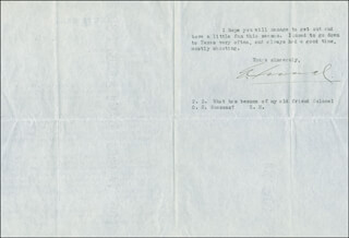 EMERSON HOUGH - TYPED NOTE SIGNED 05/11/1918