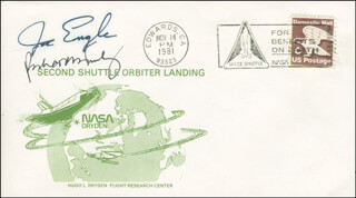 SPACE SHUTTLE COLUMBIA - STS - 2 CREW - COMMEMORATIVE ENVELOPE SIGNED CO-SIGNED BY: MAJOR GENERAL JOE ENGLE, VICE ADMIRAL RICHARD H. TRULY