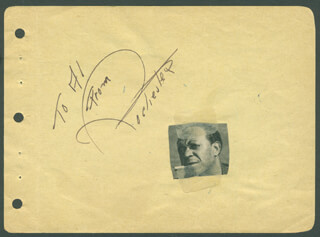 EDDIE ROCHESTER ANDERSON - AUTOGRAPH NOTE SIGNED IN CHARACTER CO-SIGNED BY: ALLEN JENKINS