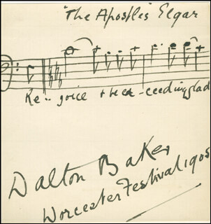 DALTON BAKER - AUTOGRAPH MUSICAL QUOTATION SIGNED