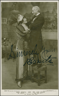 BONITA (PAULINE DES LANDES) - PICTURE POST CARD SIGNED