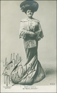 MARIE CAHILL - PICTURE POST CARD SIGNED