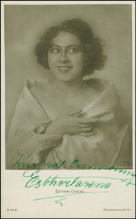 ESTHER CARENA - PICTURE POST CARD SIGNED