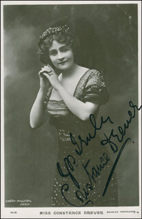 CONSTANCE DREVER - PICTURE POST CARD SIGNED