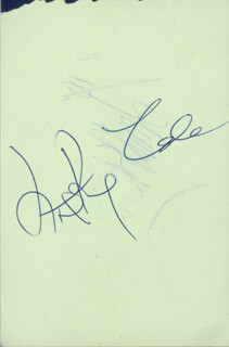 NAT KING COLE - AUTOGRAPH CO-SIGNED BY: DAVE KING