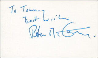 PETER MCCARTHY - AUTOGRAPH NOTE SIGNED