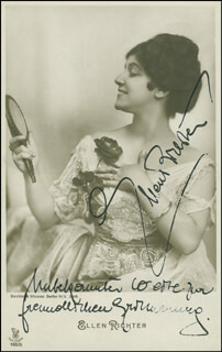 ELLEN RICHTER - INSCRIBED PICTURE POSTCARD SIGNED