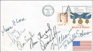 SPACE SHUTTLE ATLANTIS - STS - 30 CREW - INSCRIBED COMMEMORATIVE ENVELOPE SIGNED CO-SIGNED BY: CAPTAIN NORMAN E. THAGARD, COLONEL MARK C. LEE, CAPTAIN DAVID M. WALKER, COLONEL RONALD J. GRABE, LOREN ACTON, MARY L. CLEAVE, JAMES D. A. VAN HOFTEN