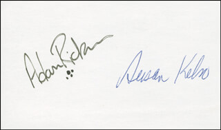 ADAM RICKNER - AUTOGRAPH CO-SIGNED BY: SUSAN KELSO