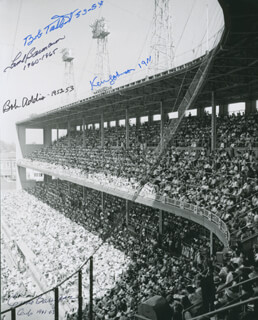 THE CHICAGO CUBS - AUTOGRAPHED SIGNED PHOTOGRAPH CO-SIGNED BY: BOB ADDIS, FRANK THE BEAU BAUMANN, KEN JOHNSON, BOB TALBOT