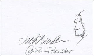JACK BENDER - ORIGINAL ART SIGNED CO-SIGNED BY: CAROLE BENDER