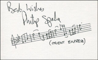 PHILIP SPARKE - AUTOGRAPH MUSICAL QUOTATION SIGNED