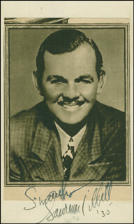 LAWRENCE TIBBETT - NEWSPAPER PHOTOGRAPH SIGNED 1930