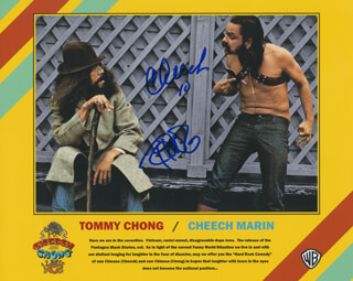 CHEECH & CHONG - AUTOGRAPHED SIGNED PHOTOGRAPH 2010 CO-SIGNED BY: CHEECH & CHONG (CHEECH MARIN), CHEECH & CHONG (TOMMY CHONG)