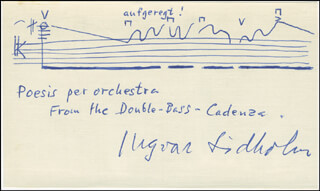 INGVAR LIDHOLM - AUTOGRAPH MUSICAL QUOTATION SIGNED