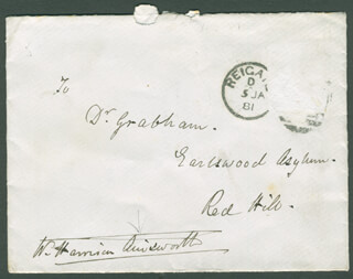 Autographs: W. HARRISON AINSWORTH - AUTOGRAPH ENVELOPE SIGNED CIRCA 1881