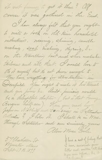 ALICE MORSE EARLE - AUTOGRAPH LETTER SIGNED 09/10/1893