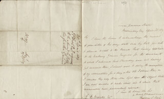 THEODORE E. HOOK - AUTOGRAPH LETTER SIGNED 04/28/1819