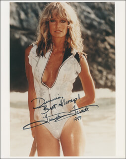 FARRAH FAWCETT - AUTOGRAPHED INSCRIBED PHOTOGRAPH 1997